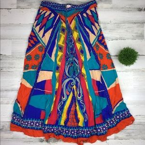 Flying Tomato Multicolor Maxi Skirt Large